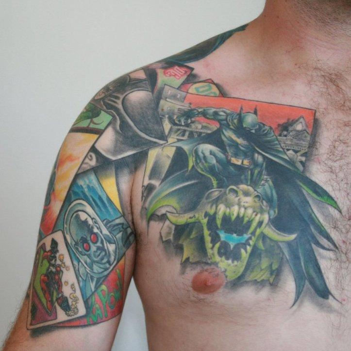 Batman-Chest-Tattoo