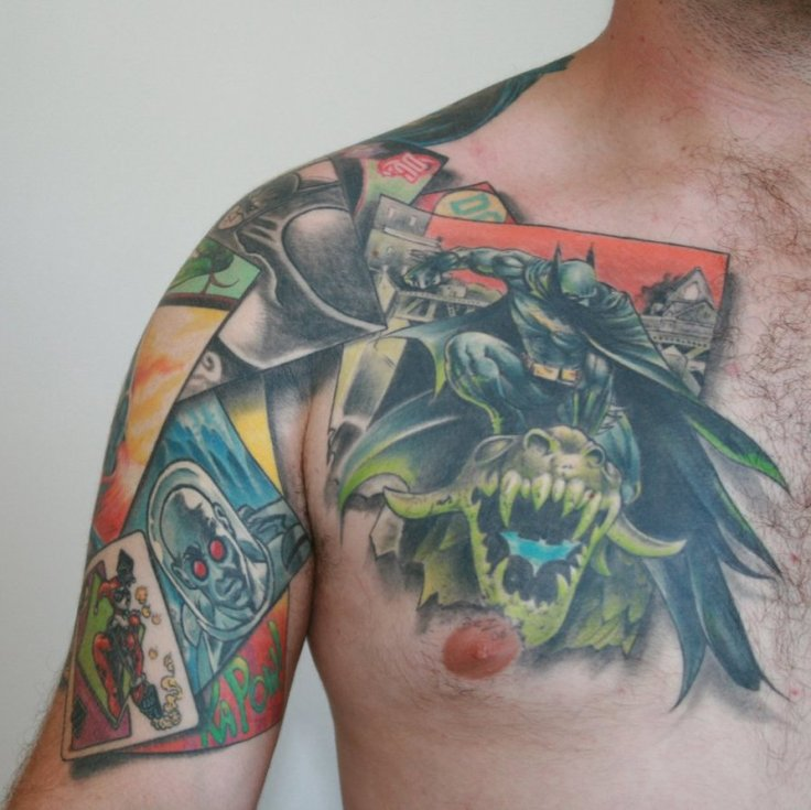 Batman-Chest-Tattoo
