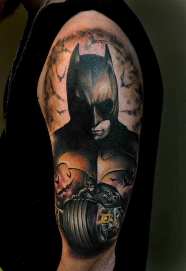 Batman-tattoo-by-Benjamin-Laukis-600x874