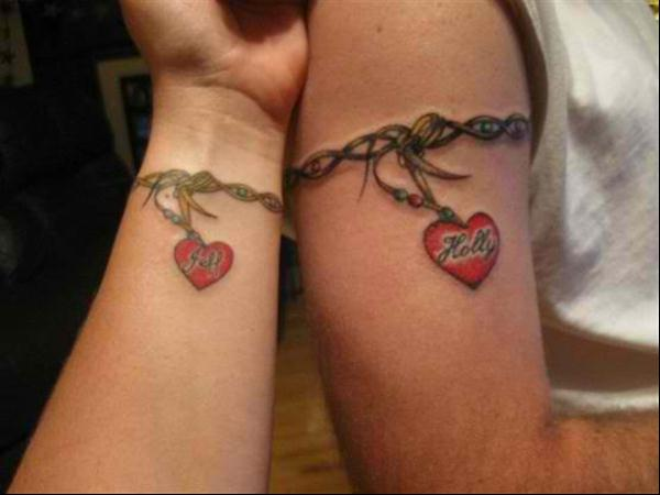couples-tattoos-heart-chains
