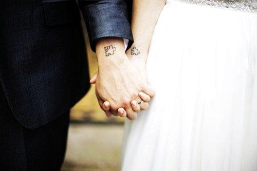 cute couple tattoos wedding - puzzle piece cute couple tattoos-f45815