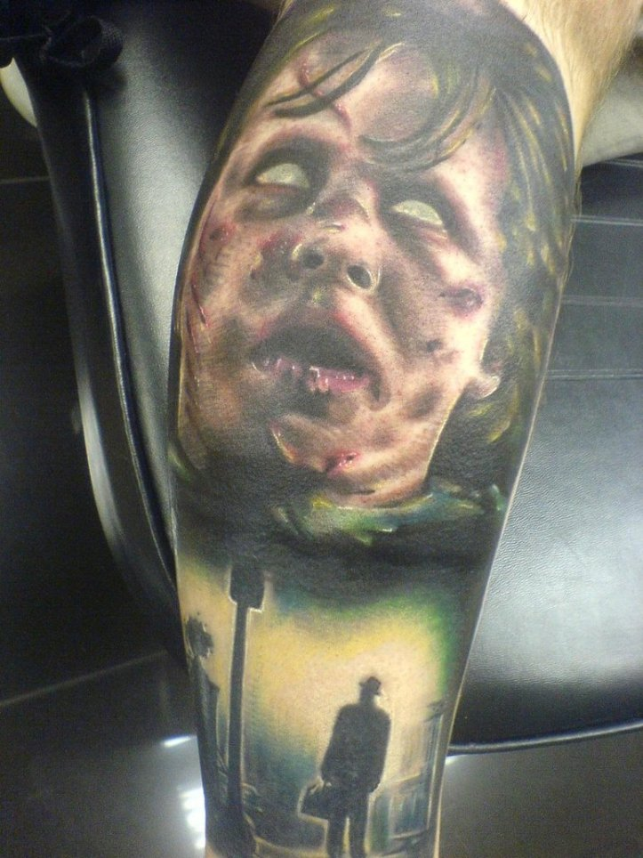Exorcist_sleeve_tattoo_by_CraigHolmesTattoo
