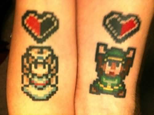love-cartoons-couple-tattoo