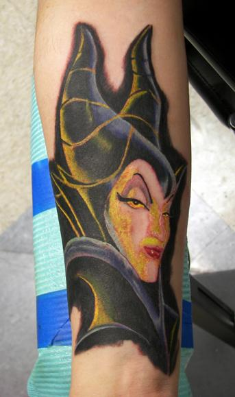 Maleficent_Tattoo__By_Moots_by_CosmicDoom