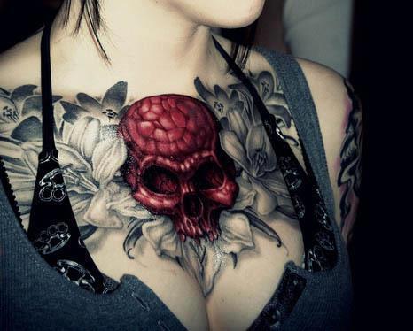 red-skull-chest-tattoo