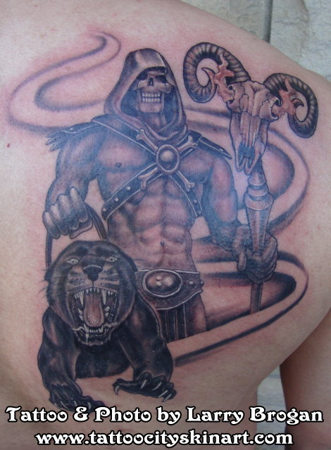 Skeletor_Panthor_He_Man_Tattoo_by_Larry_Brogan