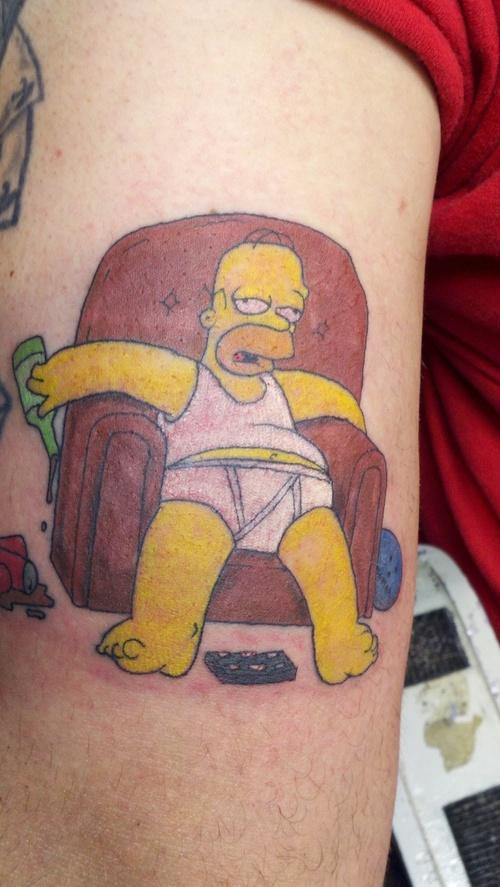 Homer vegetarische Tattoo Erwachsenenbilder