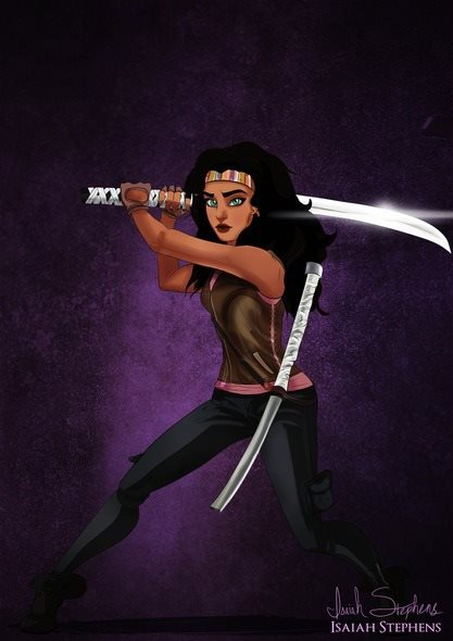 Esmeralda se transformou em Michonne (The Walking Dead)