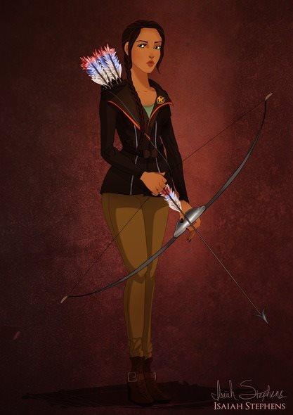 Pocahontas se transformou em Katniss Everdeen (Jogos Vorazes)