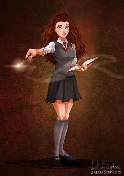 Bela se transformou em Hermione Granger (Harry Potter)