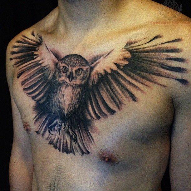 chest-tattoos-design-owl