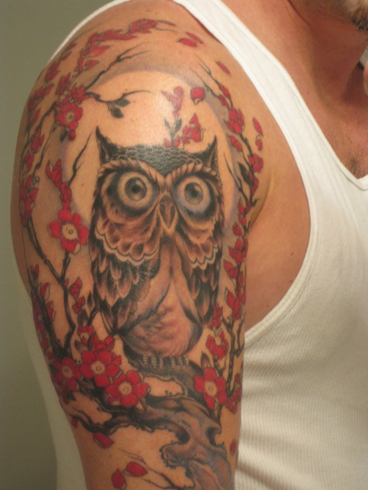 Colorful-Owl-Tattoo