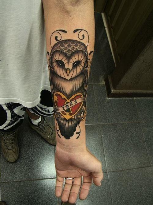 owl-tattoo-on-wrist-for-girl
