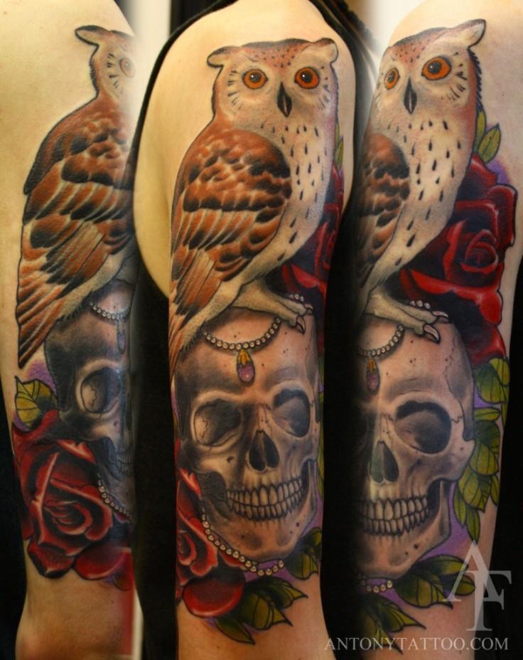 tattoo-owl-and-skull