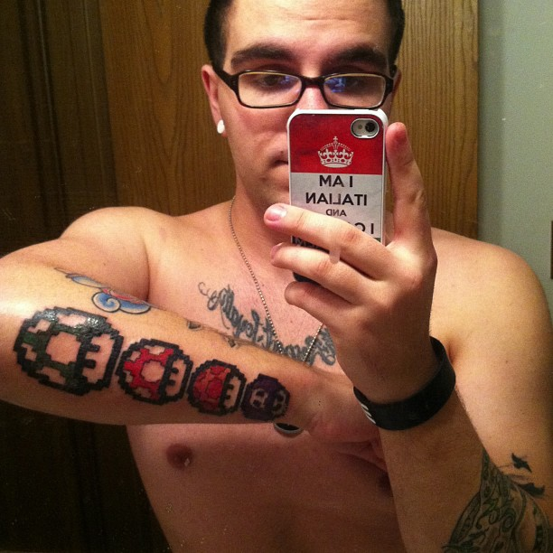 Tattoofriday 45 Tatuagens Do Super Mario Pausa Dramatica
