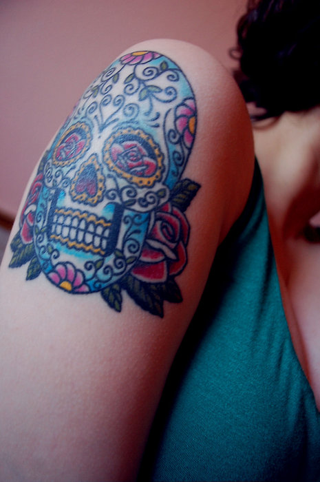 candy-skull-arm-tattoo