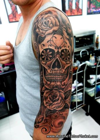 candy-skull-tattoo-sleeve