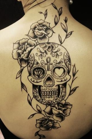 mexican-sugar-skull-tattoo-design