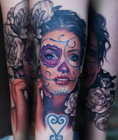 sexy-sugar-skull-tattoo