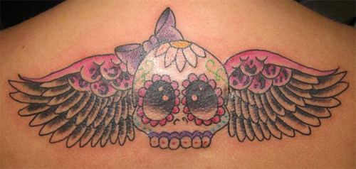 sugar-skull-and-wings-tattoo