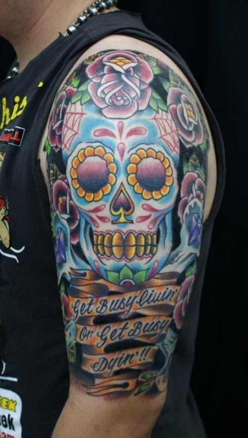 sugar-skull-arm-tattoo