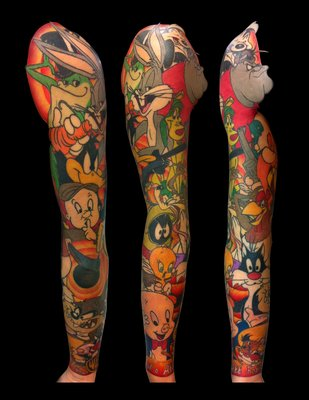 tattoofriday 35 tatuagens dos looney tunes pausa dram tica cultura pop. Black Bedroom Furniture Sets. Home Design Ideas