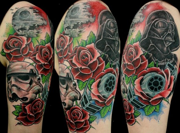 star-wars-and-roses-tattoo