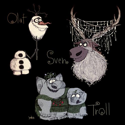 frozen tim burton9