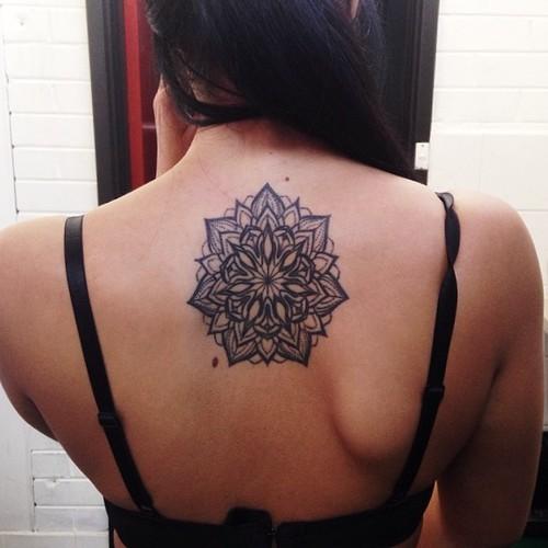 Black-Mandala-Tattoo-On-Back