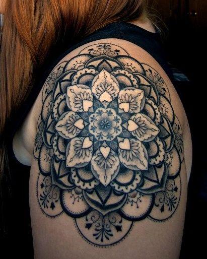 Mandala-shoulder-tattoo