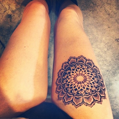 Mandala-thigh-tattoo