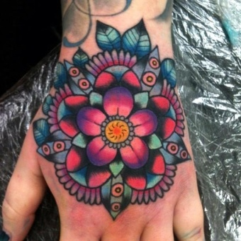 Technicolor-mandala-tattoo