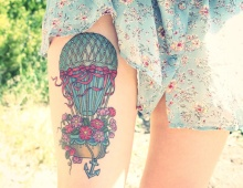 Hot-air-balloon-cute-tattoo