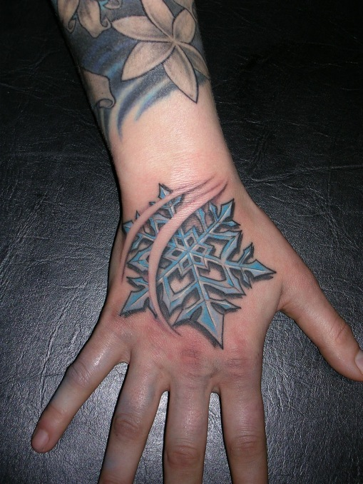 snowflake hand