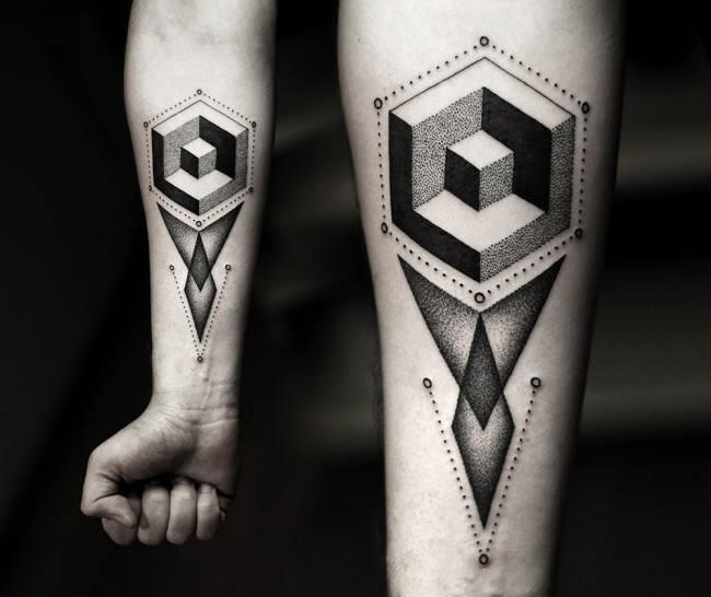 awesome geometric tattoos (7)