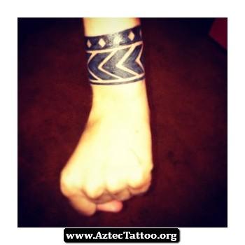 Aztec Bracelet Tattoo 01