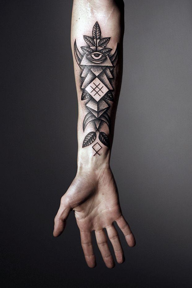 best-geometric-tattoo-on-right-forearm
