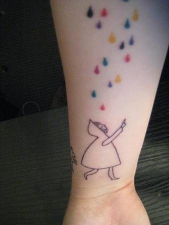 cute-rain-tattoo-design-on-arm