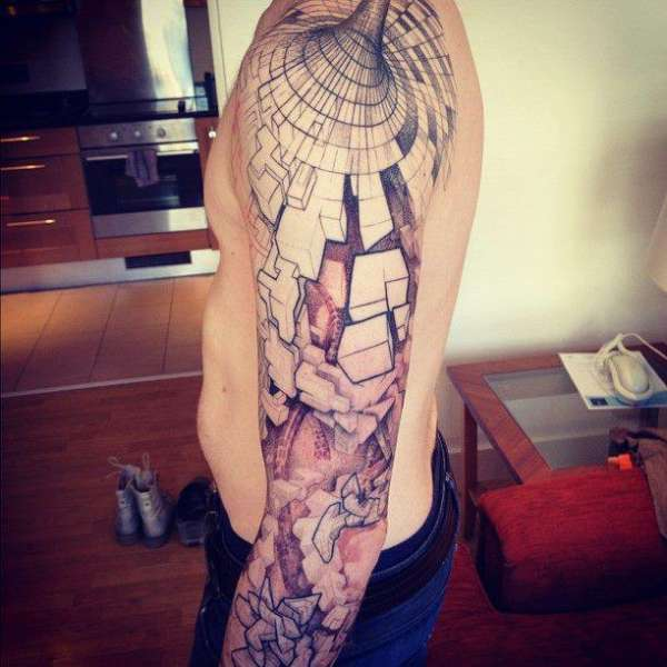 geometric-abstract-tattoo-optical-illusion-sleeve