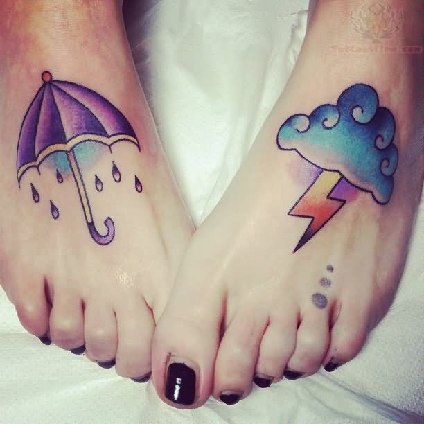 umbrella-and-cloud-tattoo-on-feet