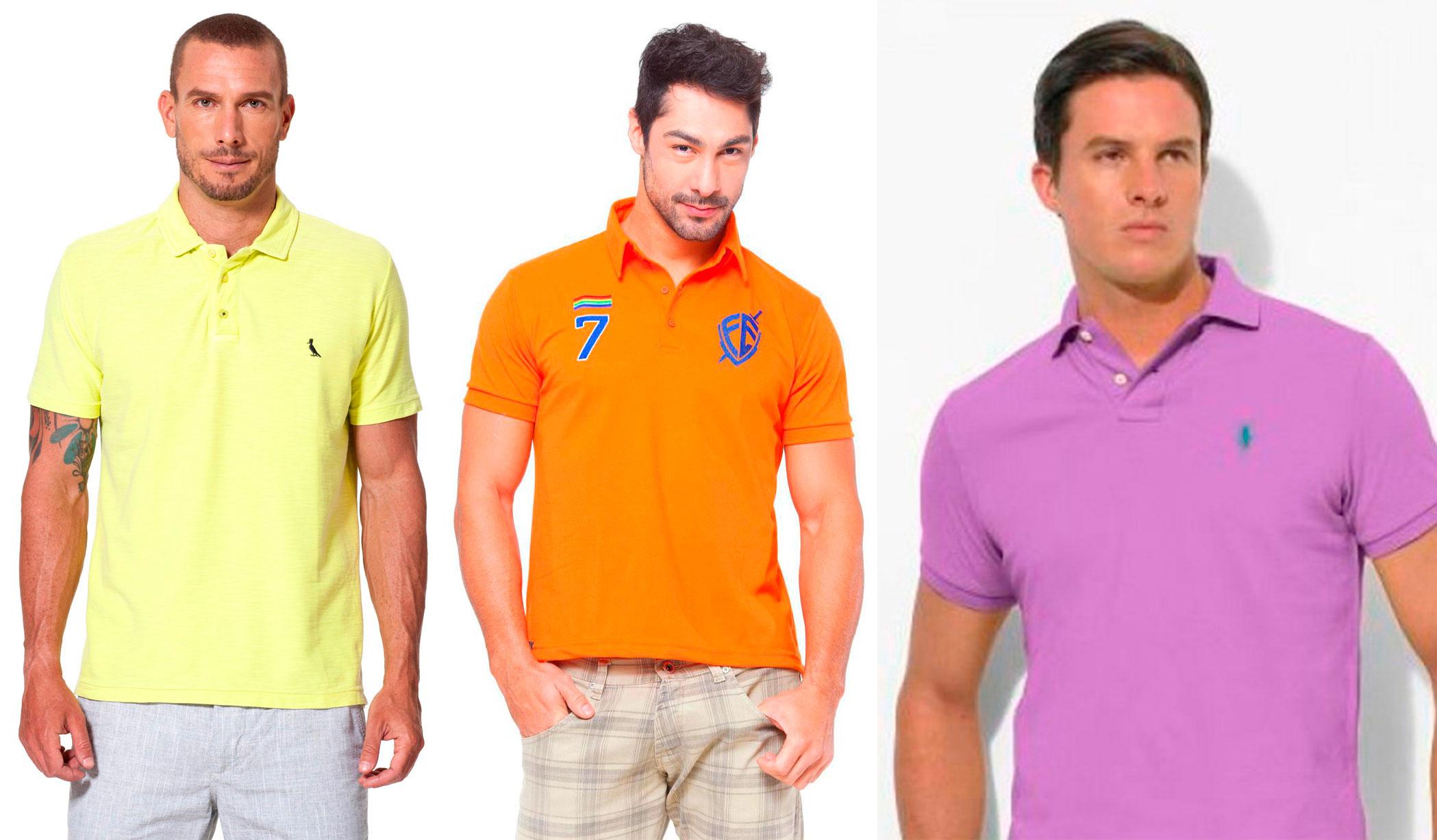 Tendência na moda masculina 2015  camisa Polo volta renovada – Pausa ... 93ea59c61098a