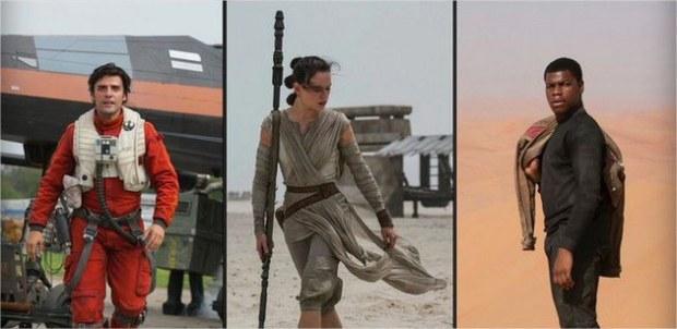 Novas imagens de John Boyega, Daisy Ridley e Oscar Isaac