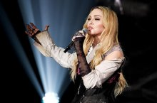 LOS ANGELES, CA - MARCH 29:  Singer Madonna performs onstage during the 2015 iHeartRadio Music Awards which broadcasted live on NBC from The Shrine Auditorium on March 29, 2015 in Los Angeles, California.  (Photo by Kevin Winter/Getty Images for iHeartMedia)
