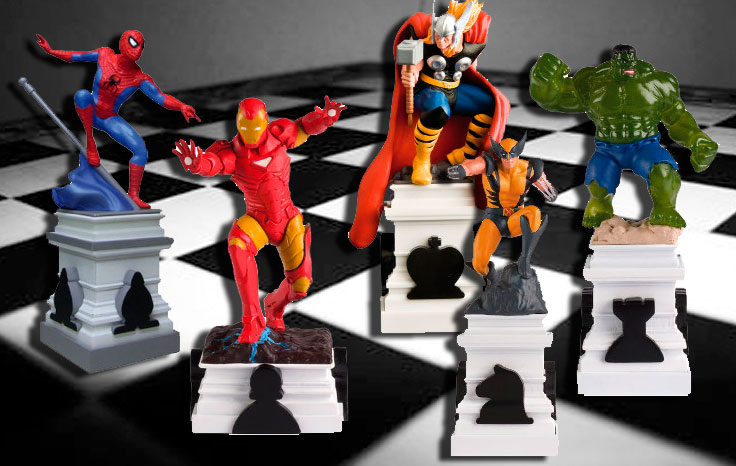 Resultado de imagem para Xadrez Marvel