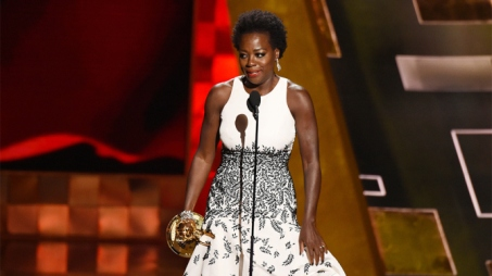 Mandatory Credit: Photo by Buckner/Variety/REX Shutterstock (5120845fr) Viola Davis ('How To Get Away With Murder' - Outstanding Lead Actress in a Drama Series) 67th Primetime Emmy Awards, Show, Los Angeles, America - 20 Sep 2015