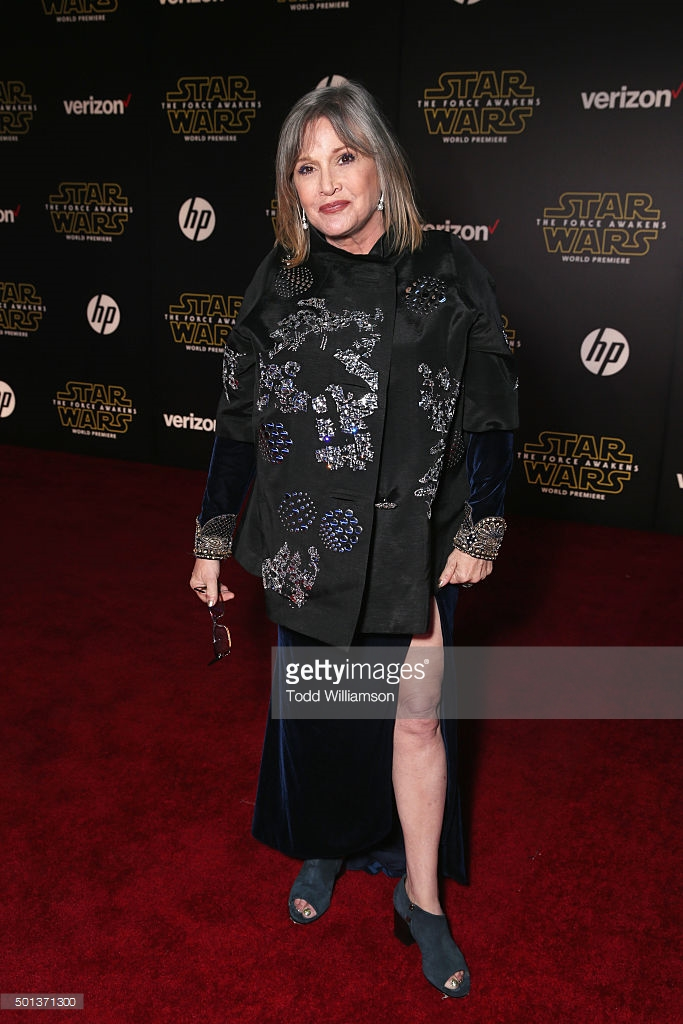 "attends the Premiere of Walt Disney Pictures and Lucasfilm's ""Star Wars: The Force Awakens"" on December 14, 2015 in Hollywood, California."