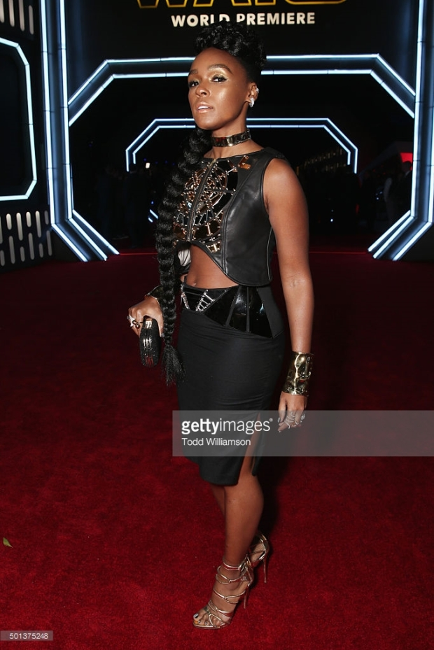 """attends the Premiere of Walt Disney Pictures and Lucasfilm's """"Star Wars: The Force Awakens"""" on December 14, 2015 in Hollywood, California."""