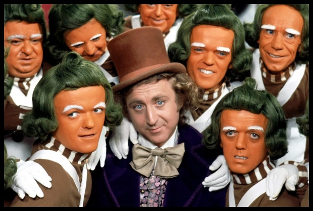 Oompa Loompas A Fantástica Fábrica de Chocolate 1971 willy wonka Charlie and the Chocolate Factory