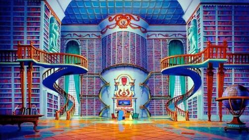 biblioteca bela e a fera